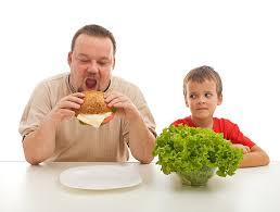Se alimente com o que eu mando, mas não coma o que eu como!