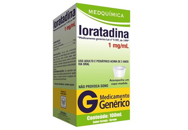 A Loratadina é usada para tratar alergias. (Foto: Divulgação)