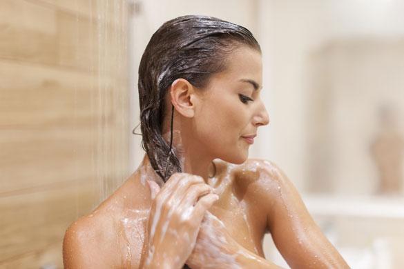 falha cabelo banho quante