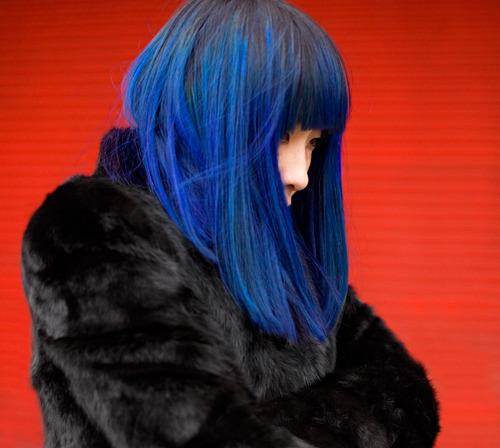 pintar cabelo azul de metileno
